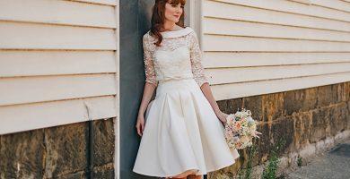 Vestido de novia corto: 65 modelos encantadores para ceremonias modernas