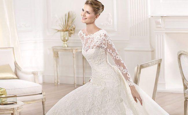 Vestidos de novia de manga larga: opción elegante para mujeres con estilo