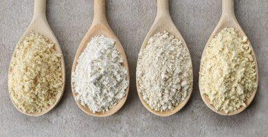 9 harinas bajas en carbohidratos para incluir en tu menú
