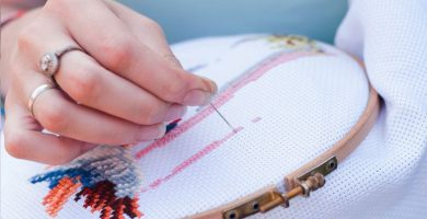 Punto de cruz: aprende bordados que vuelven a estar de moda