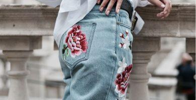 Jeans Bordados: la pieza que hace más moderno cualquier look