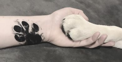 50 tatuajes de patas de perro para inspirar tu